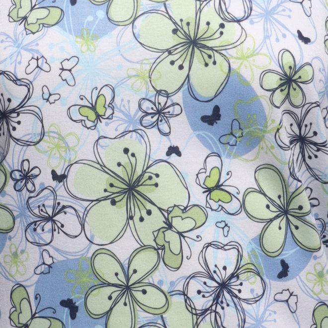T-Shirt met Bloemetjes & Vlinder Dessin