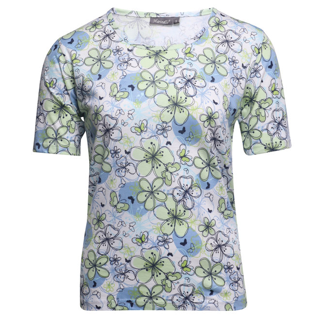 T-Shirt in All-Over Dessin