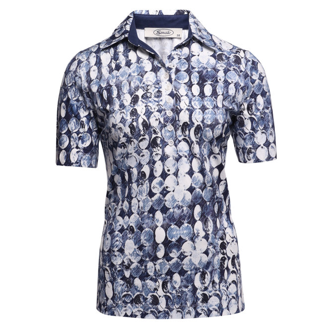 Polo met All-Over Dessin