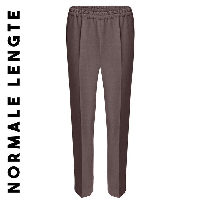 Pantalon elastiek: Bruin