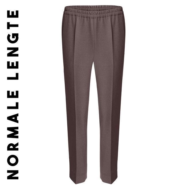 Pantalon met Elastische Band Rondom Bruin