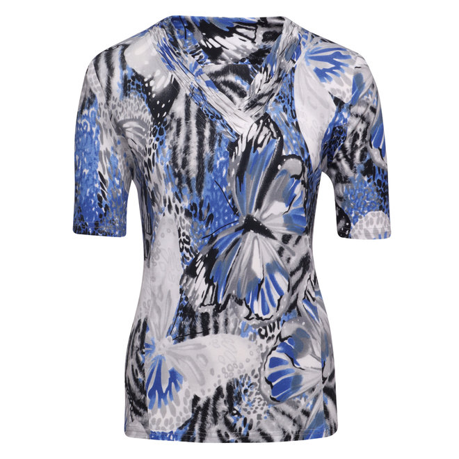 T-Shirt met Hals Detail