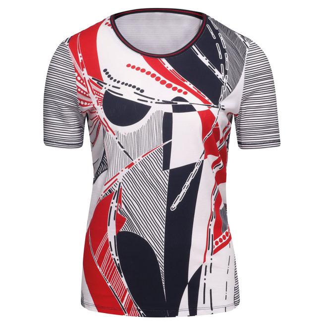 T-Shirtmet Print Opdruk op Voorkant