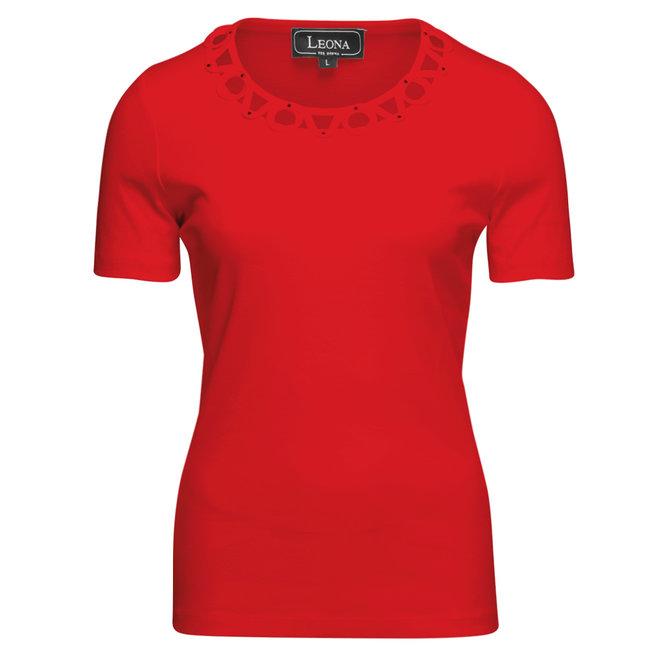 Leona T-Shirt met Sierlijke Halslijn