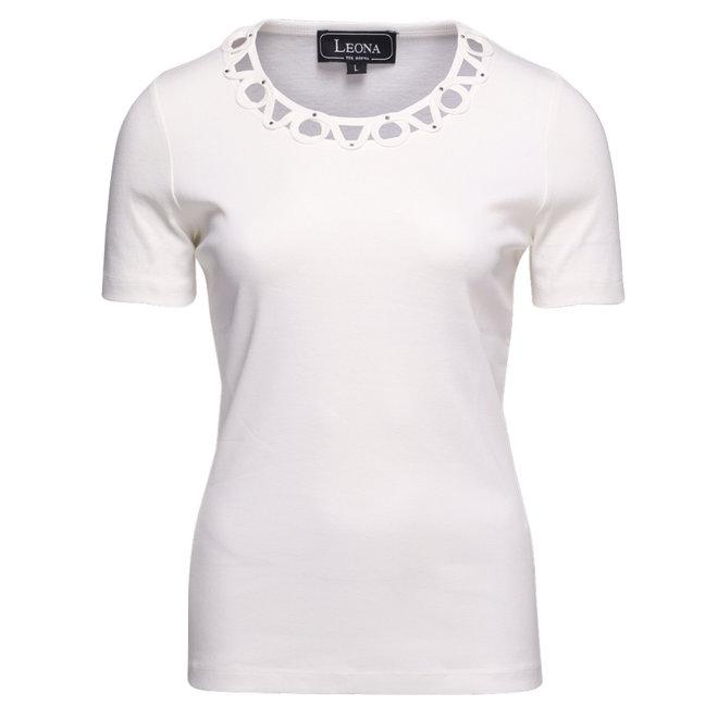 T-Shirt met Sierlijke Halslijn