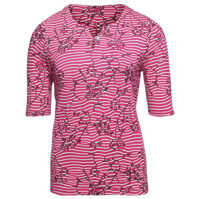 Roze T-Shirt met Structuur
