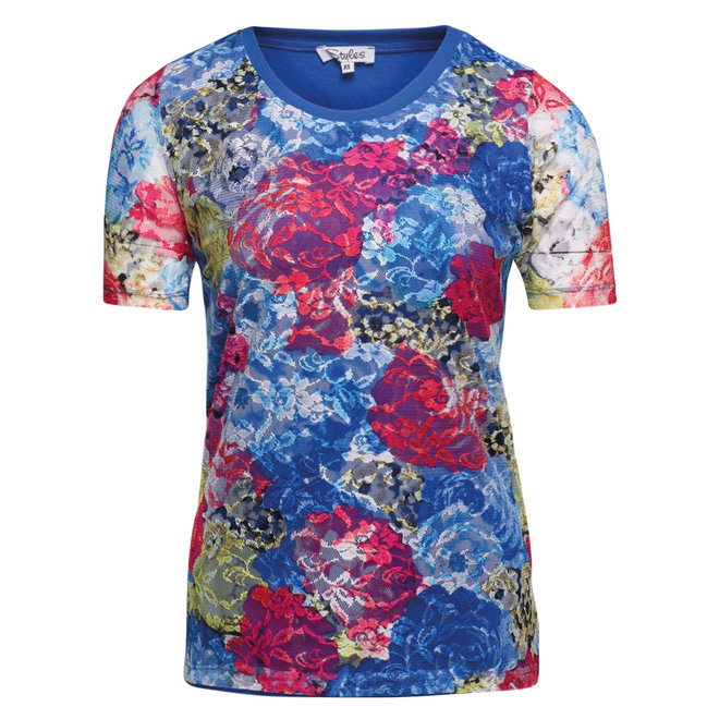 T-Shirt met Kant Multi