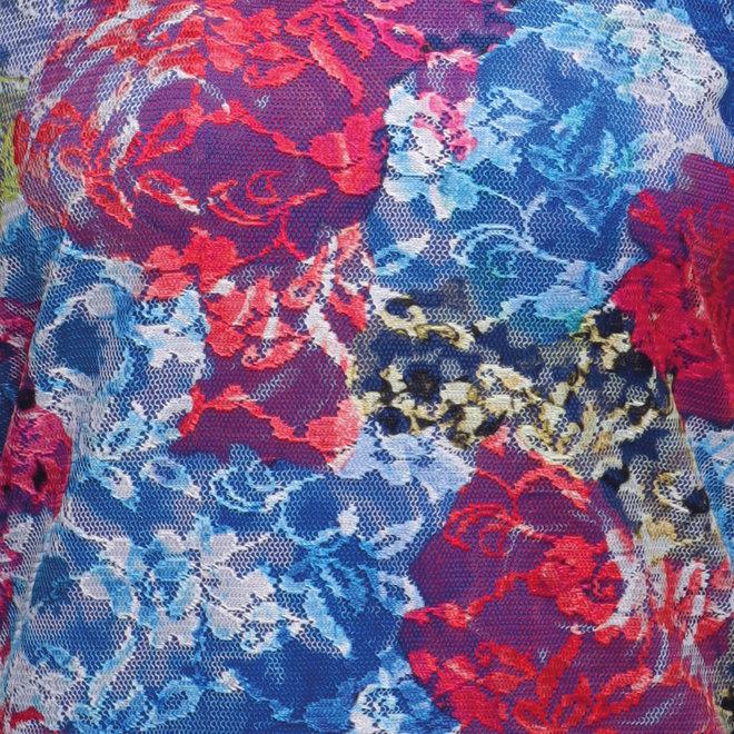 T-Shirt met Kant Multicolor