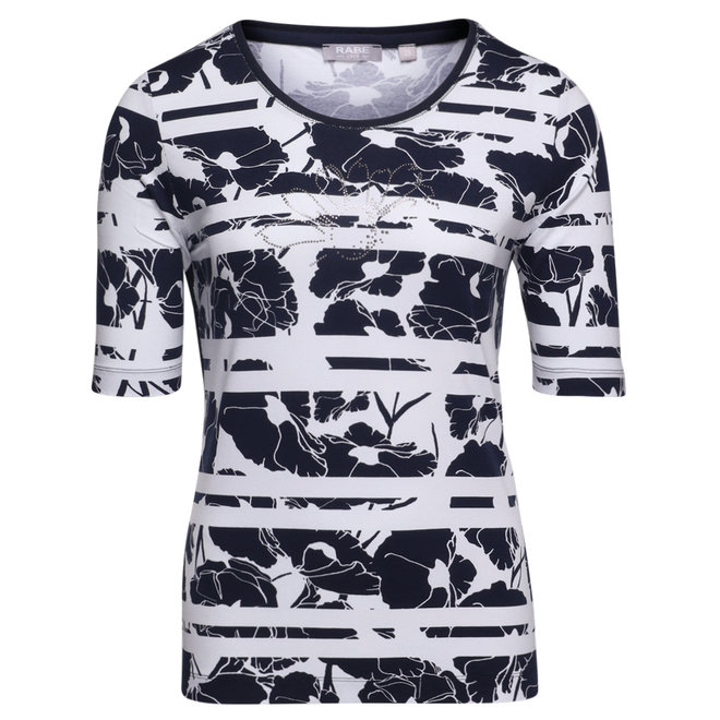T-Shirt met Bloemen en Strass