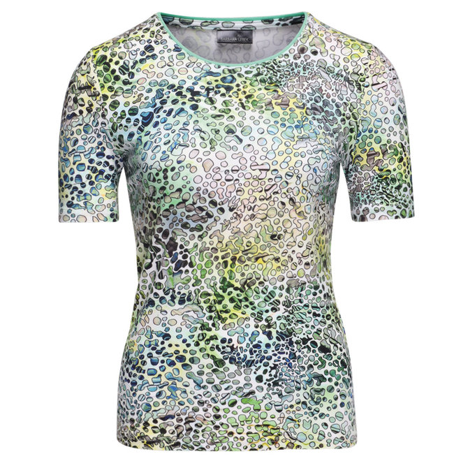 T-Shirt met Groen All-Over Dessin