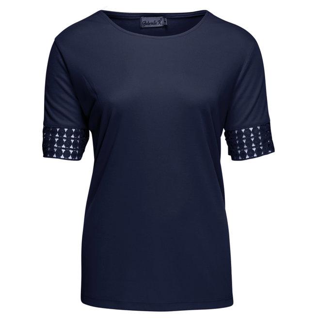 T-Shirt met Kanten Band