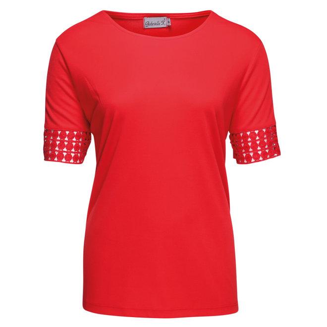Uni T-Shirt met Kant Detail