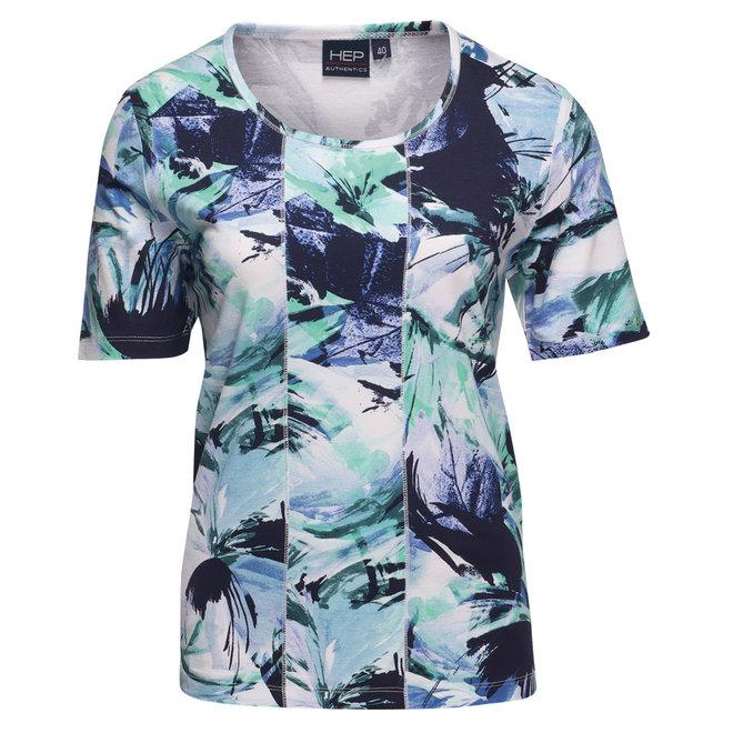 T-Shirt met All-Over Dessin