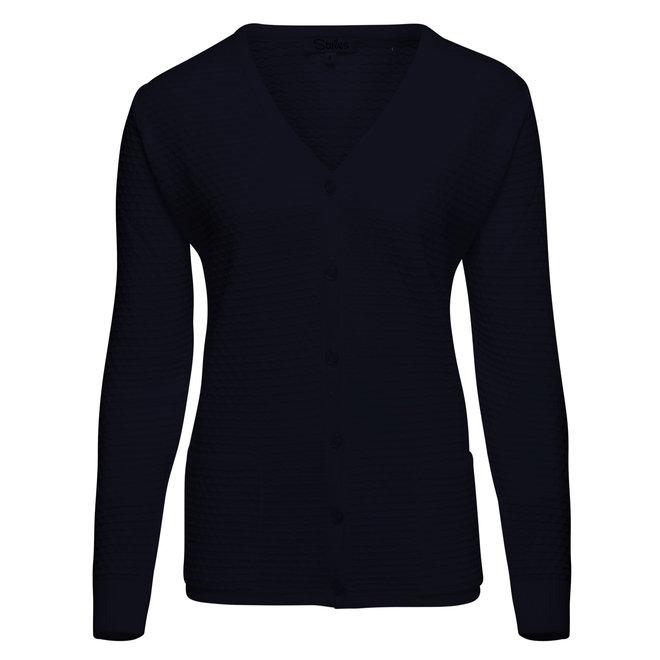Donkerblauw Doorknoop Vest
