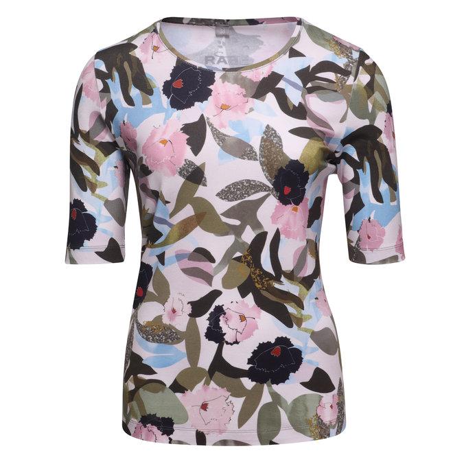 T-Shirt met Gedrukte Bloemen