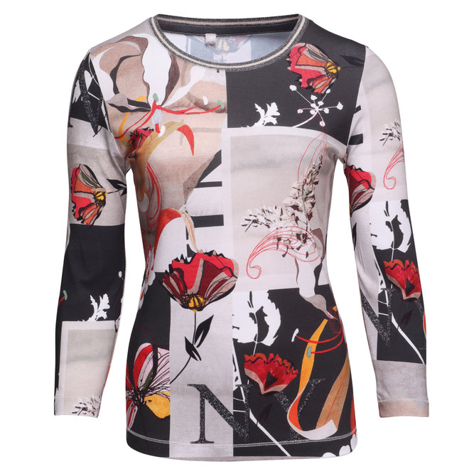 Shirt met Fleurige Opdruk