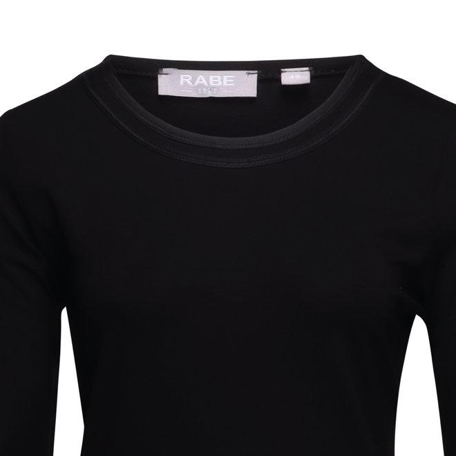 Effen Shirt met Driekwarts Mouwen