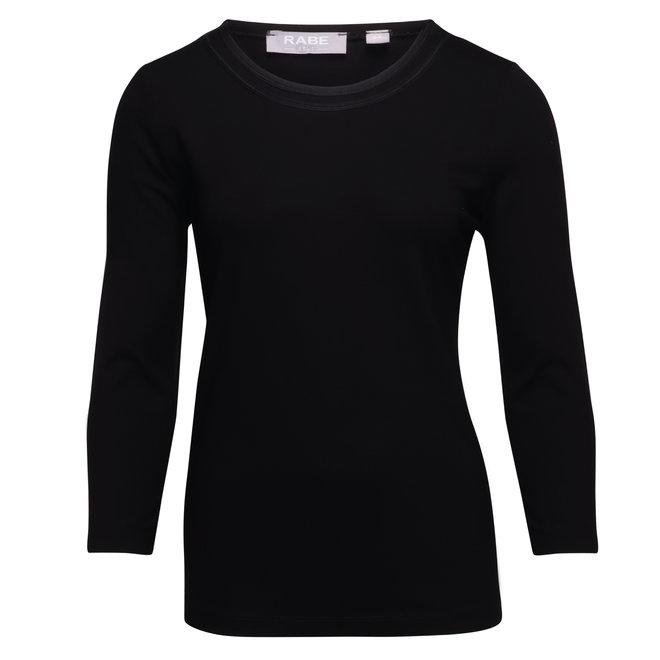 Uni Shirt met 3/4 Mouw Zwart