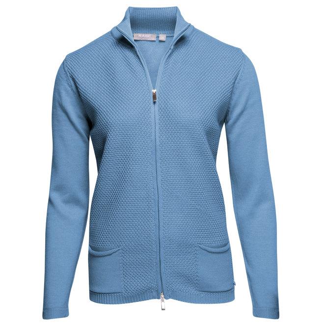 Sportief Vest met Col Lichtblauw