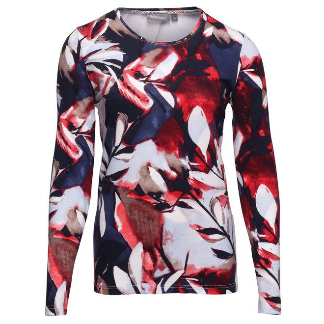 Shirt met Aquarel Bloem Dessin