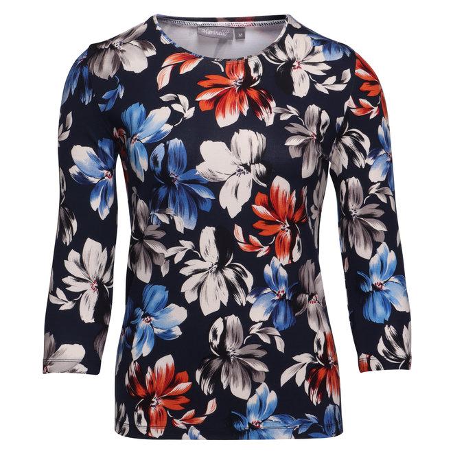 Shirt met Bloemen Dessin
