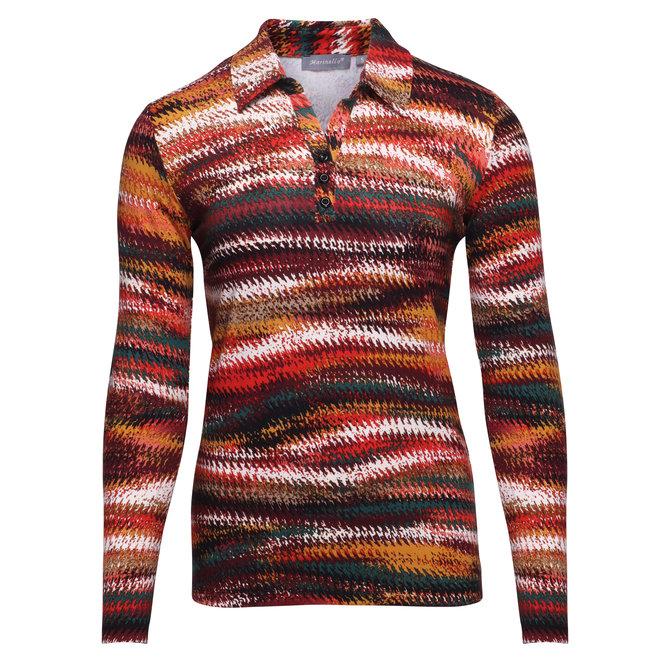 Poloshirt in Prachtige Herfstkleuren
