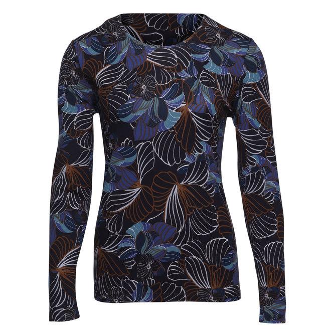Shirt met Grafische Bloemen en Lange Mouwen
