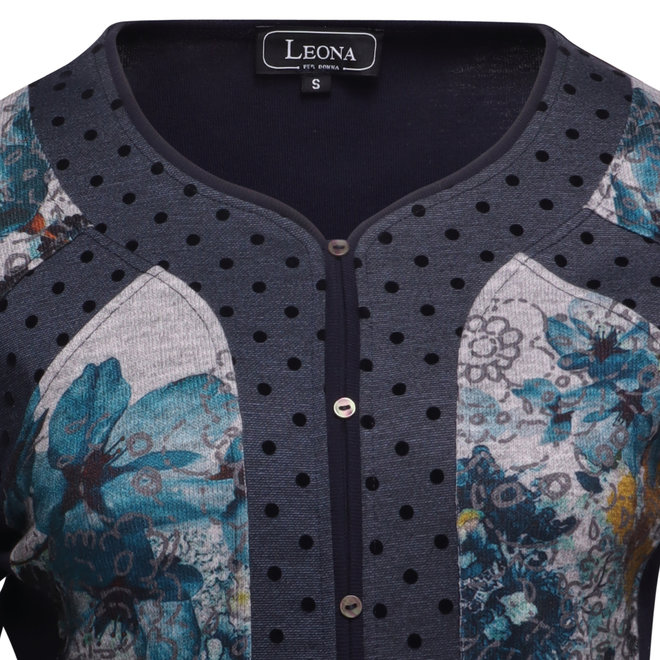 Shirt met Verschillende Dessins en Knoopjes