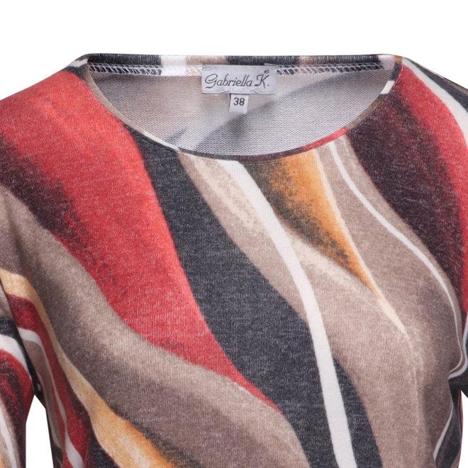 Shirt met Retro Dessin en Zacht Materiaal
