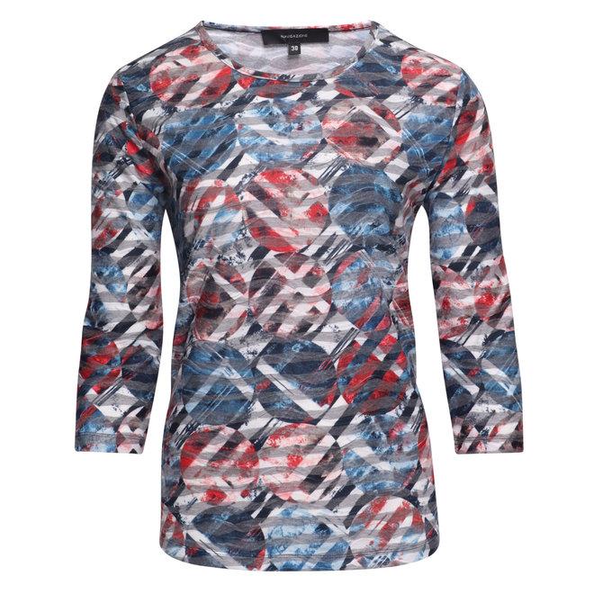 Shirt met Gestructureerd Dessin en 3/4 Mouw