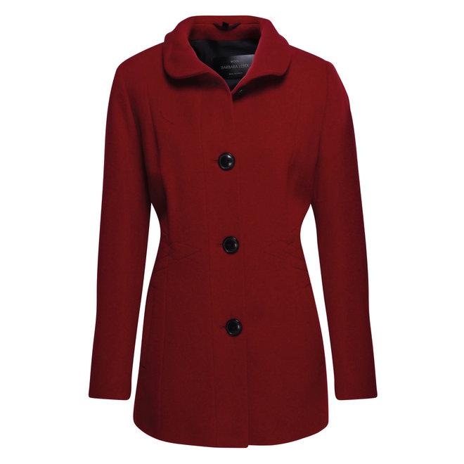Mantel met Knopen Rood