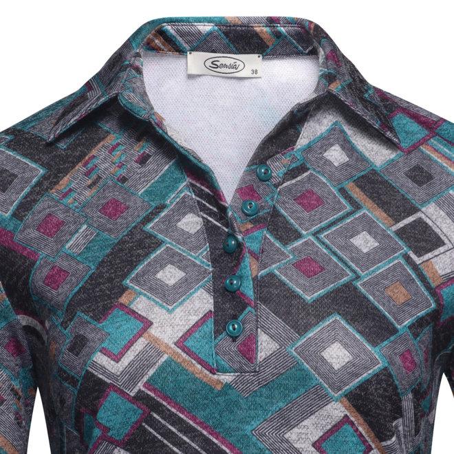 Poloshirt met Grafisch Dessin