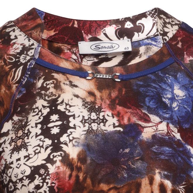Shirt met Versierde Halslijn