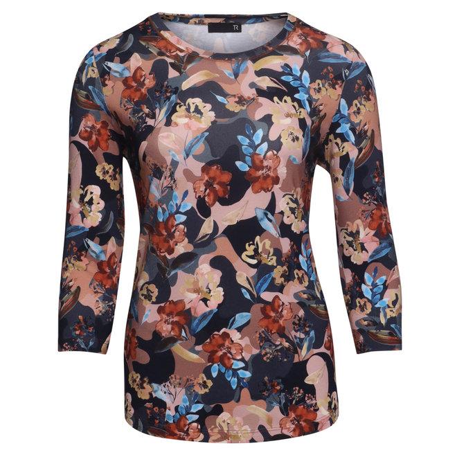 Shirt met Bloemen in Romantische Kleuren