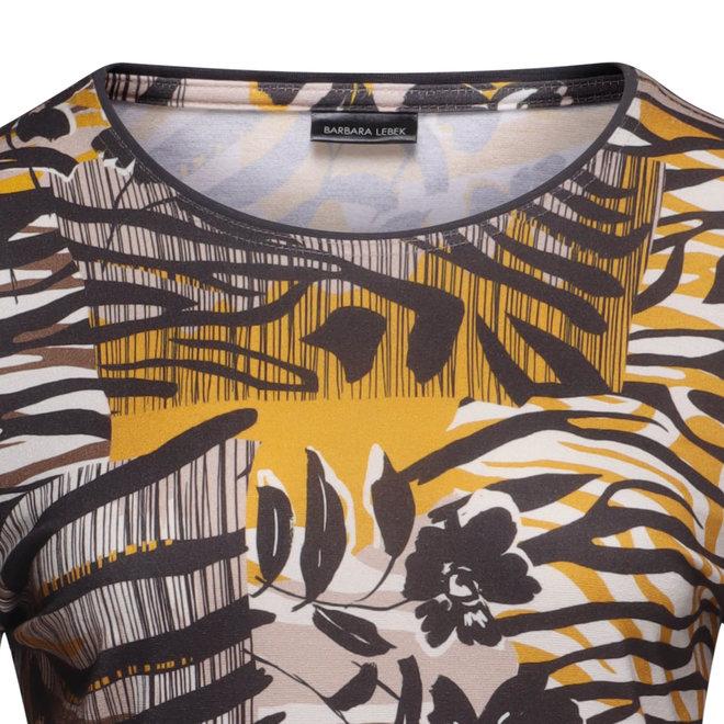 Shirt in Bruin en Okergeel