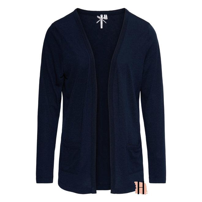 Openvallend Vest Fine Knit Vern in Indigo Z21
