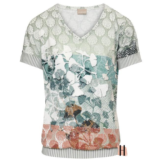 T-Shirt Blouson met Fris Dessin