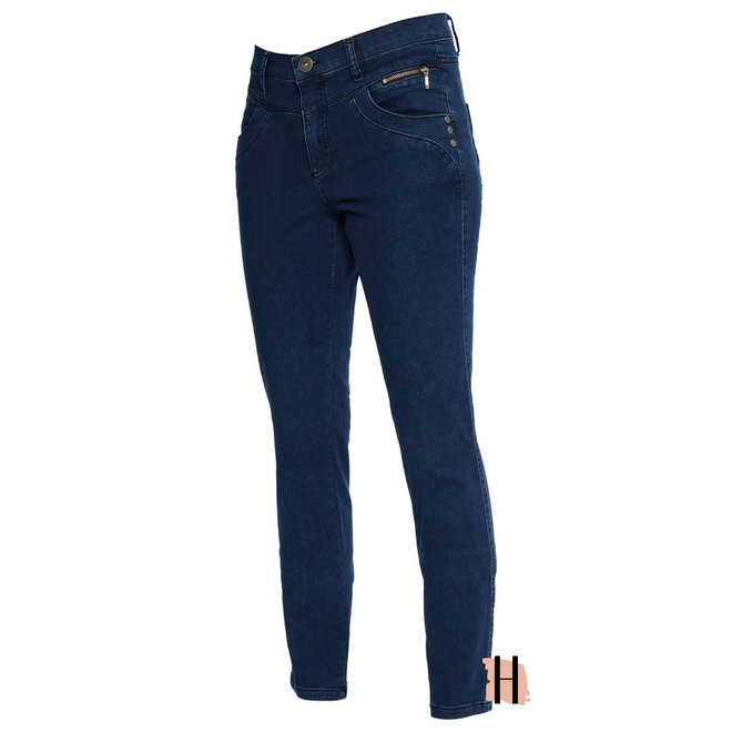 Donkerblauwe Jeans Straight Fit