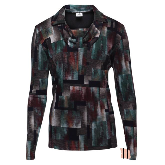 Extra Warm Shirt met Grafisch Dessin en Speciale Halslijn
