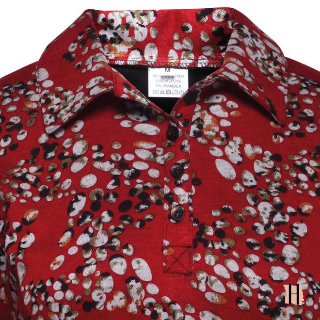 Warm Poloshirt met All-Over Dessin