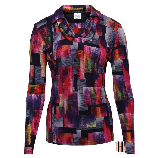 Vrolijk Warm Shirt met Kraag en Hals Detail
