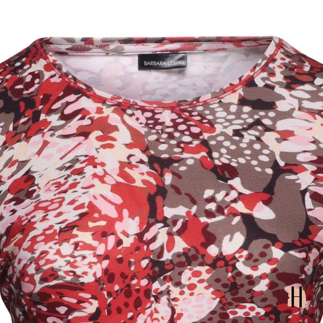 Shirt met Fris Dessin en Driekwarts Mouwen