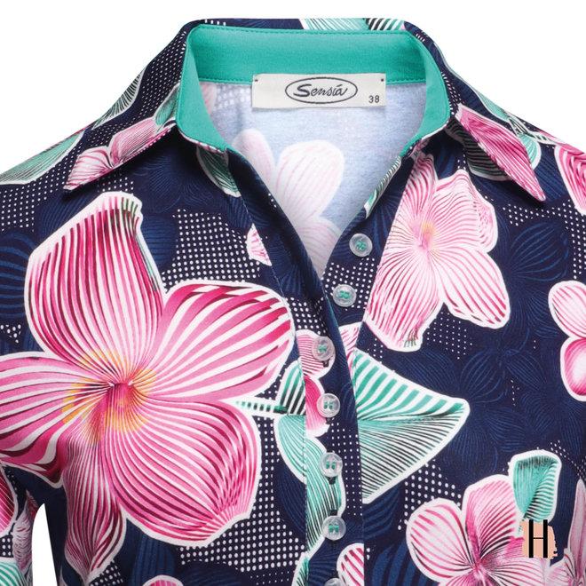 Vrolijke Polo met Roze Orchideeën