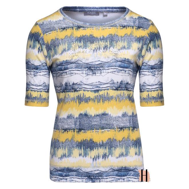 T-Shirt Geel en Jeans Patroon