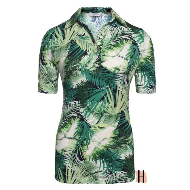 Polo met Tropische Palmen Print