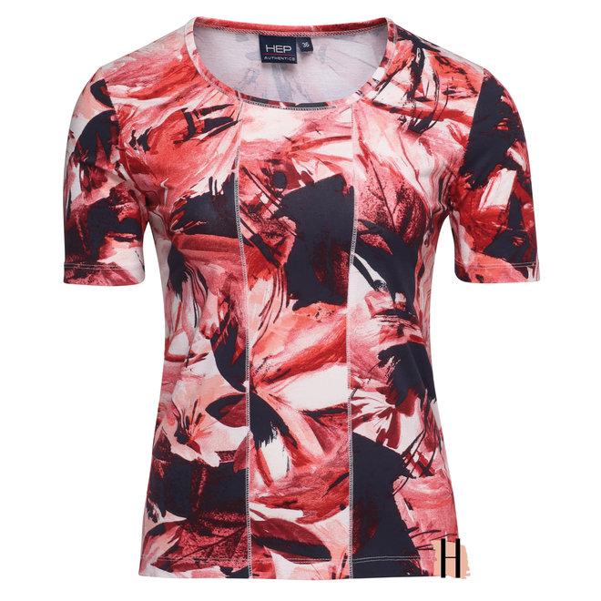 Hep T-Shirt met All-Over Dessin