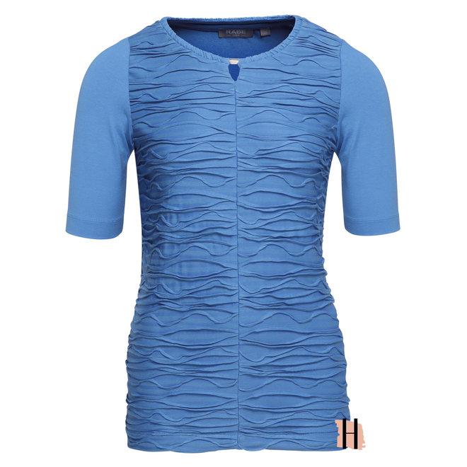 T-Shirt met Gestructureerde Voorkant En Halsdetail