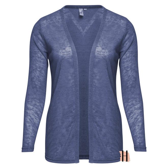 Luchtig Openvallend Vestje Jeans Blauw