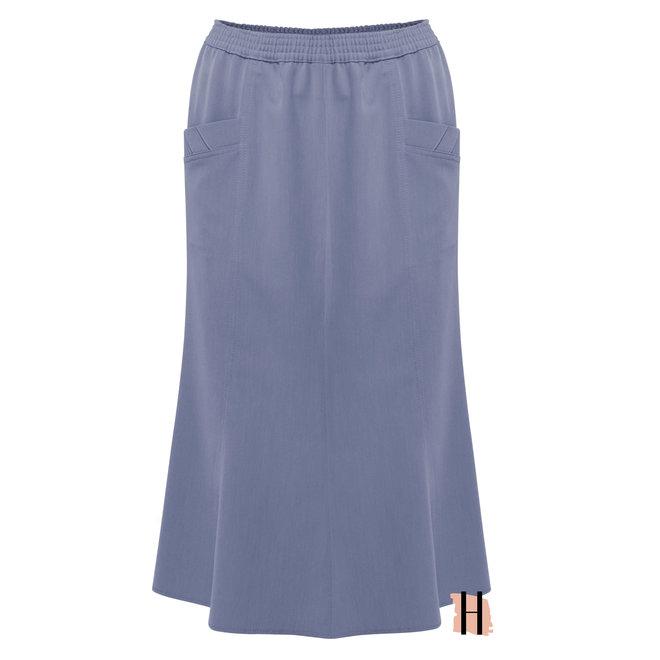 Klassieke Rok met Elastische Taille Band Rondom Jeans/ Raf Blauw