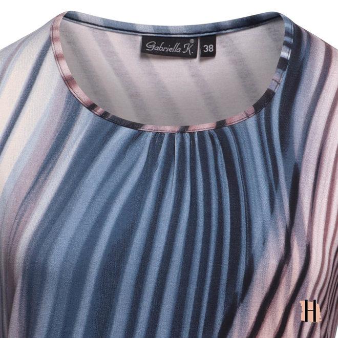 Shirt met Plooihals en Pasteltinten